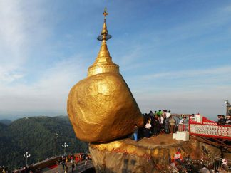 Golden Rock (Kyaik Hti Yoe) in , Myanmar