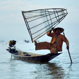 fantastic style of rowing and fishing of intha