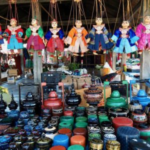 local market selling handicrafts
