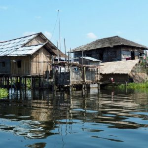 stilted house in inle lake
