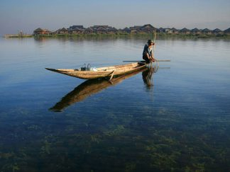 Inle Lake in , Myanmar