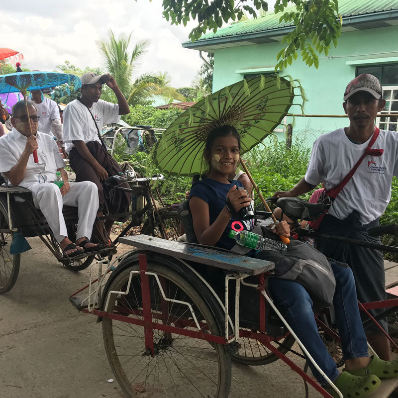 Trishaw ride in dala
