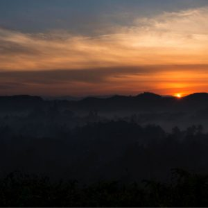 mrauk u sunset