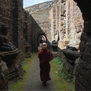 novice from mrauk u, rakhine