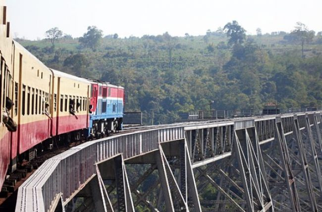 Train ride on the historic Gohteik Viaduct by Myanmar Travel Agency