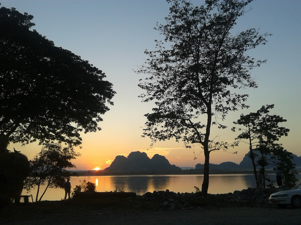 Beauty Scenic Sunset at Hpa-an
