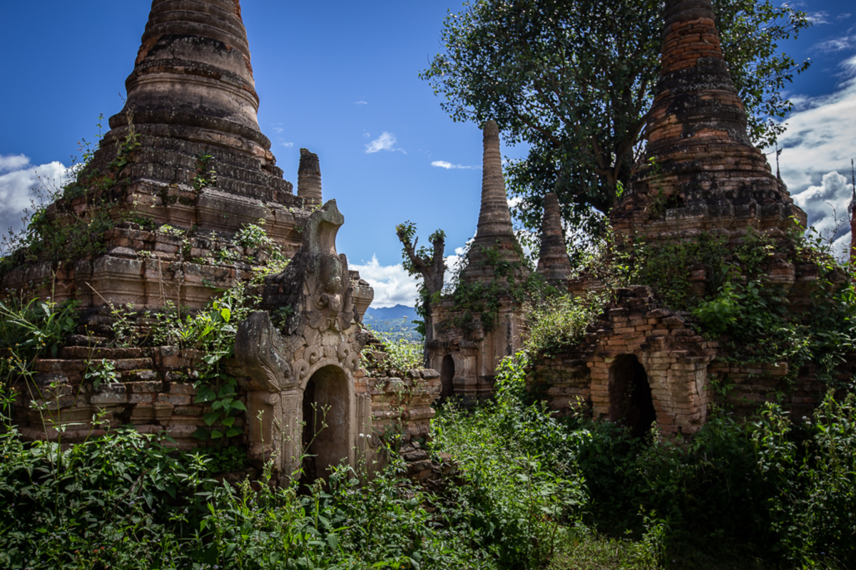 Ancient temples at Sakar village, Inle Lake, Myanmar