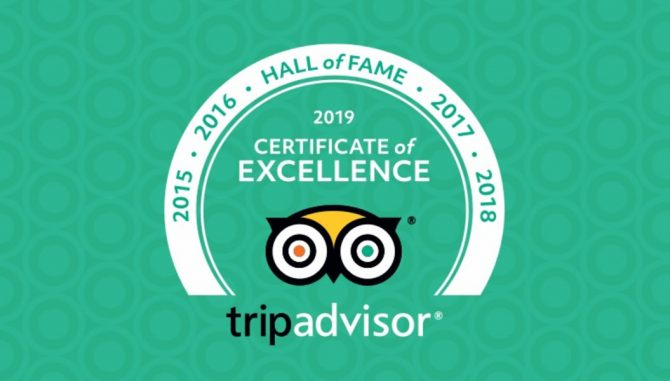"Pro Niti Travel Earns 2019 TripAdvisor ""Certificate of Excellence"" and ""Hall Of Fame"""