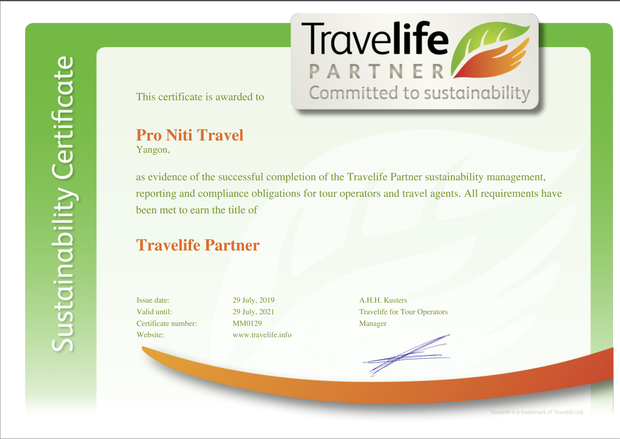 Pro Niti Travel - Travelife Partners - myanmar-sustainable tour operator